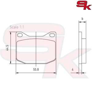 Rear Pair Brake Pads for CKR CRG Maranello Tibi [sk1467
