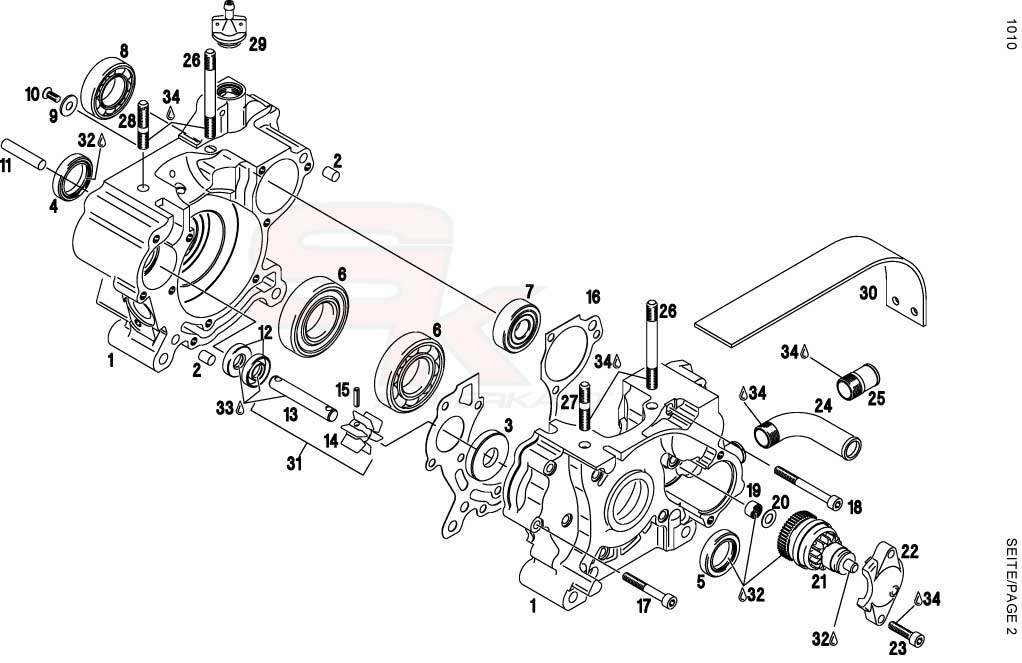 Technical information Engine FR125 | Superkart it, spare parts for