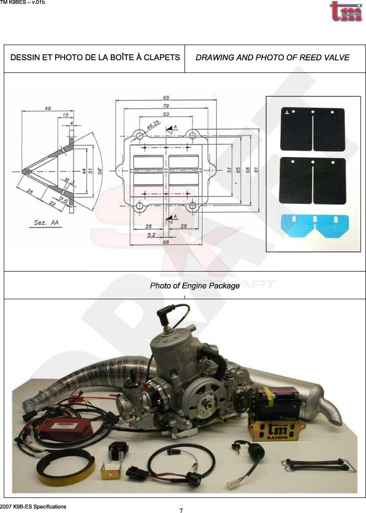 Tm k9b/k9c/kz10 engine alpha karts & parts parts and.