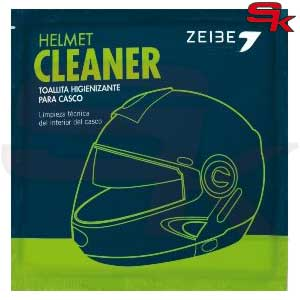 Wipes for cleaning the inside of the helmet