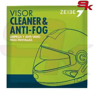 Wipes for cleaning helmet visor and Anti-Fog Protection