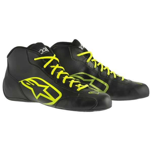 ALPINESTARS - Shoes Tech 1- K - Black Yellow Fluo