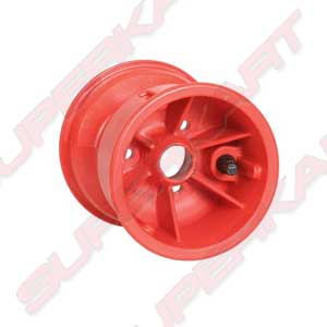 Special Red Plastic Wheel 130 mm