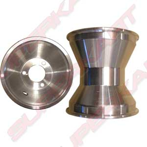 Aluminium Rear Wheels Set 140 mm