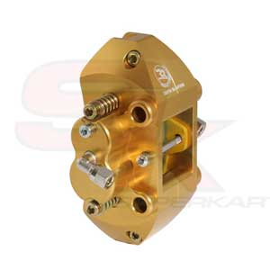 Rear Hydraulic Brake Caliper, 4 Pistons - Homologated