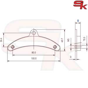 Brake Pads - Front Pair - type BIREL - Spirit