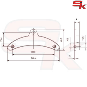 Brake Pads - Front Pair - Type BIREL
