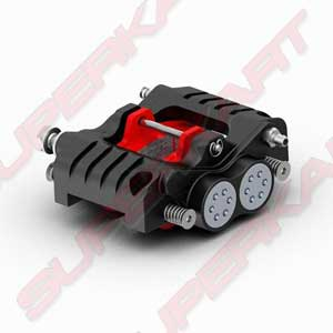 Hydraulic Brake Rear Caliper 4 pistons - Homologated