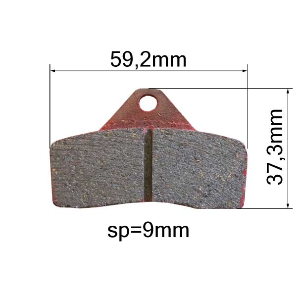 Brake Pads - Front/Rear - type TONY (Pair) 2015