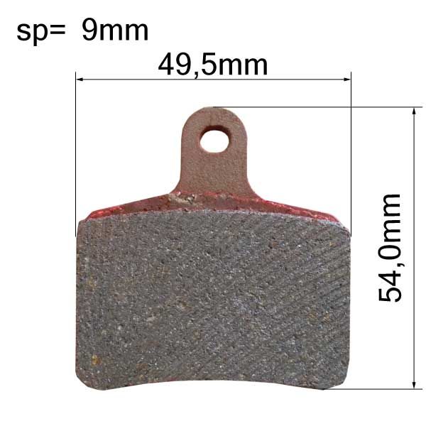 Brake Pads - Rear - type TONY (Pair) 2015
