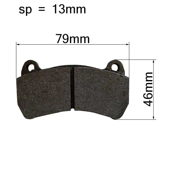 Brake Pads Rear Pair - type INTREPID