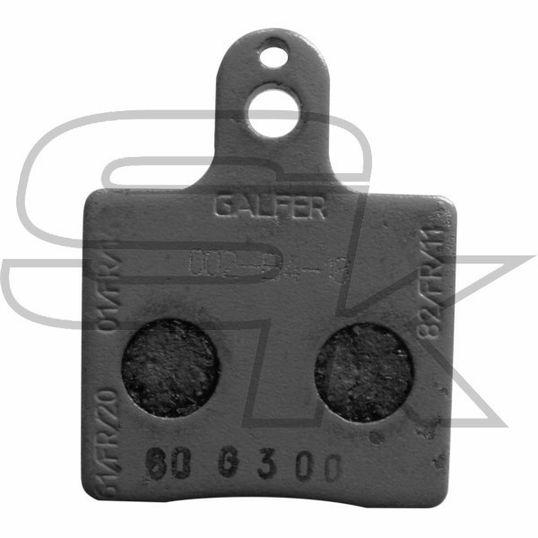 Pair of Front brake pads V05 BLACK CRG AFS.04915