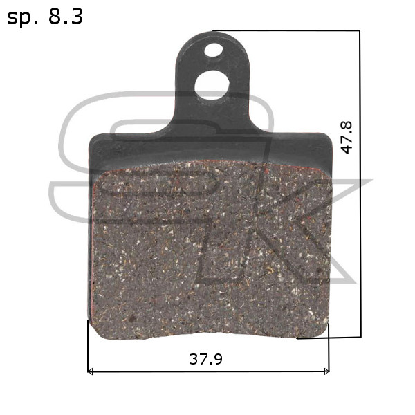 Brake Pads - FRONT PAIR - CRG Type - ECO