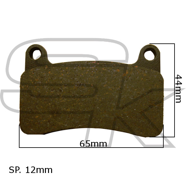 Brake Pads Rear Pair - type INTREPID 2017