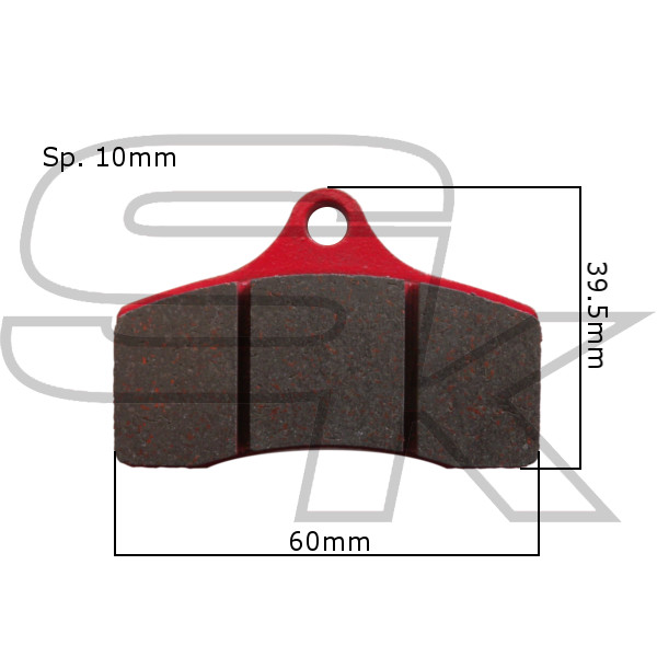 Brake Pads - Front Pair - type Praga IPK