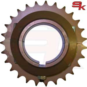 Sprocket for 125cc KZ in Ergal for axle diam.50mm
