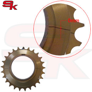 "Ergal Sprocket for 125cc KZ ""Zero Space"" Axle diam. 50 mm"