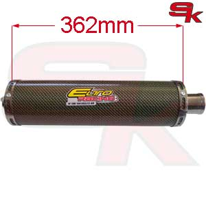 ELTO - Exhaust Silencer short in fiber