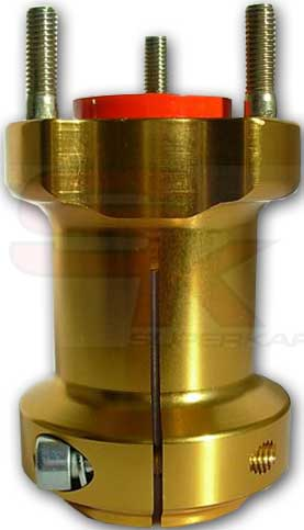 Hub in aluminium for Rear Axle 95 x 40 x 8 mm
