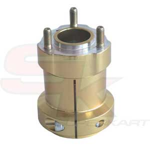 Hub in aluminium for Rear Axle 95 x 50 x 8 mm GOLD