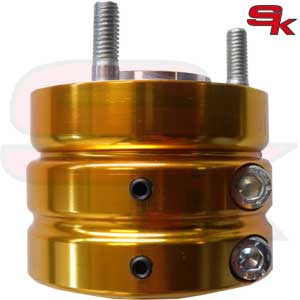 Aluminium Rear Hub - HIGH TRACTION - 60 x 50 x 8 mm