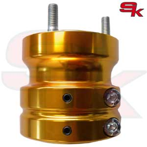 Aluminium Rear Hub - HIGH TRACTION - 75 x 50 x 8 mm