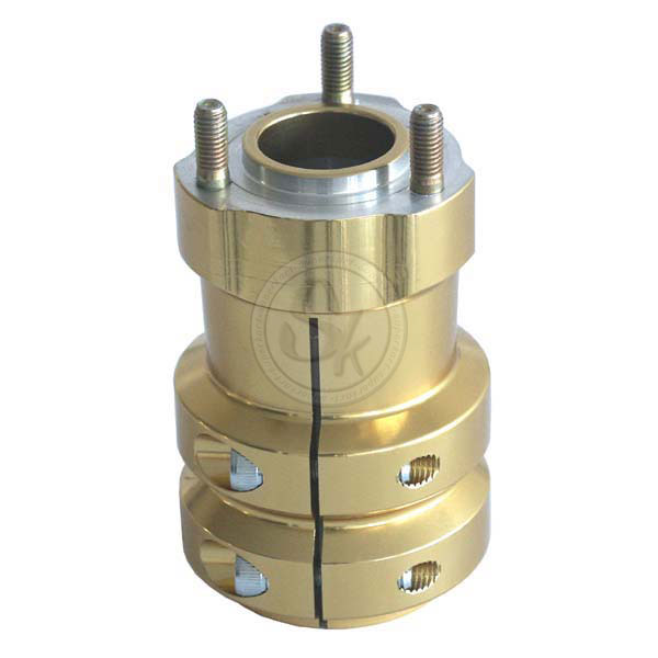 Hub in aluminium for Rear Axle 115 x 50 x 8 mm - GOLD