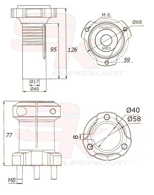 Technical information Drum Front Hub - Rif. SK494