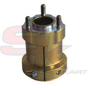 Hub in aluminium for Rear Axle 75 x 50 x 8 mm