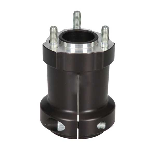 Hub in aluminium for Rear Axle 95 x 50 x 8 mm BLACK