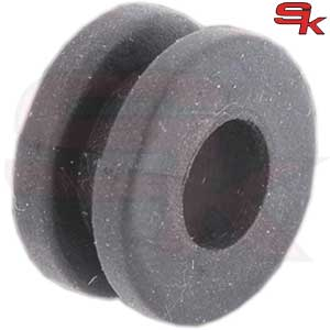 Anti-vibration rubber for front spoiler support pin