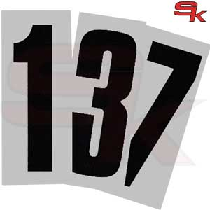 Number Adhesive BLACK with backgroundTransparent