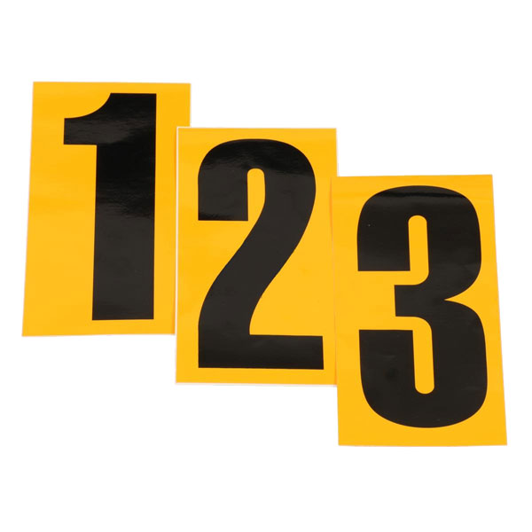 Number Adhesive - Background YELLOW