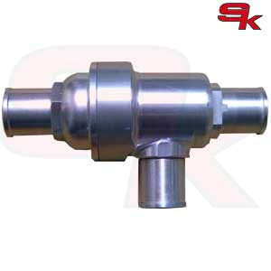 Three-way thermostatic aluminum valve