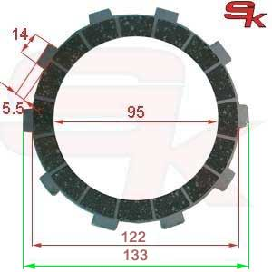 Clutch plate, fiber for K7 - KV92 - KV95, TM 35006