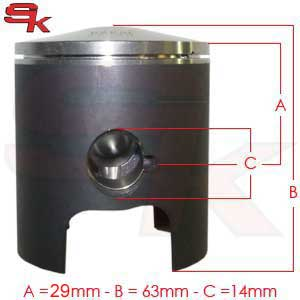 Piston for Super ROK Until 2014 and For ROK G.P.