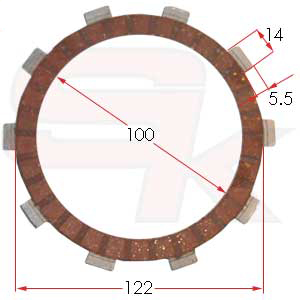 Coated Clutch Disk, MODENA DM110515