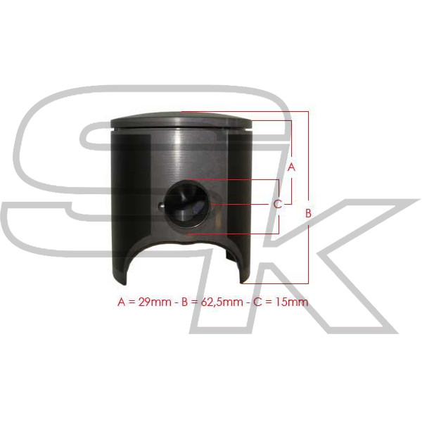Piston METEOR for ROTAX MAX