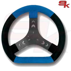 Steering Wheel Cov.Black/Blue 300S Flat Bottom - Spoke Black