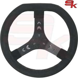 Steering Wheel Cov. BLACK 320S Flat Top - Spoke In Black