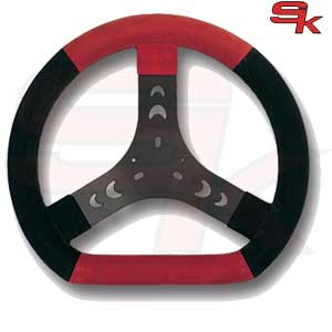 Steering Wheel Cov. Black/Red 300S Flat Bottom - Spoke In Black