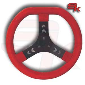 Steering Wheel Cov. RED 320S Flat top - Spoke In Black