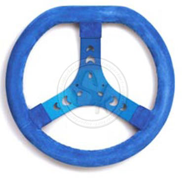 Steering Wheel Cov. BLUE 320S Flat Top - Spoke In Blue
