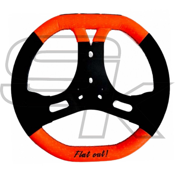 Steering Whell Flat out CRG Black/Orange AFS.0527X